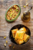 Baklava with pistachio. turkish traditional delight Stock Photo