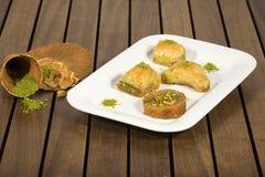 Baklava with pistachio Stock Image