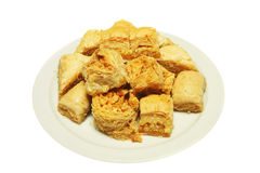 Baklava on plate Stock Photo
