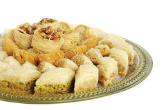 Baklava at shallow DOF, focus on top sweets Royalty Free Stock Images