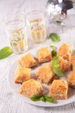 Baklava and tea Royalty Free Stock Image