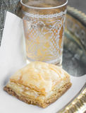 Baklava and Tea Royalty Free Stock Photos
