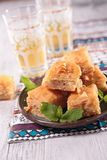 Baklava and tea Stock Photo