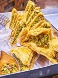 Baklava, a traditional Arab dessert. stock image