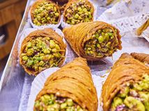 Baklava, a traditional Arab dessert. royalty free stock photos