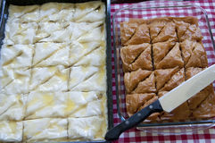 Baklava. Traditionally middle eastern near east cuisine Stock Photography