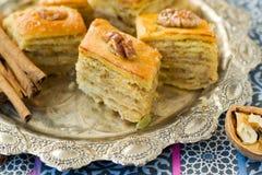 Baklava, traditionele oosterse snoepjes Royalty-vrije Stock Foto
