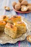 Baklava, traditionele oosterse snoepjes Royalty-vrije Stock Foto's