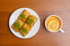 Baklava, traditioneller türkischer Nachtisch Lizenzfreie Stockfotos