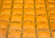 Baklava traditionnelle de bonbon à plaisir turc Photographie stock