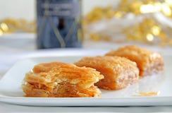 Baklava Tradycyjny Grecki ciasto Zdjęcie Stock