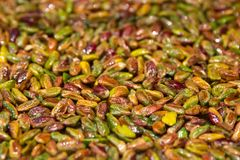 Baklava turca con il pistacchio, macro fotografie stock