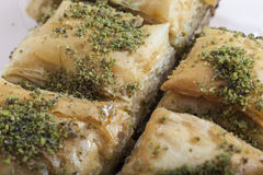 Baklava turco da sobremesa Fotografia de Stock