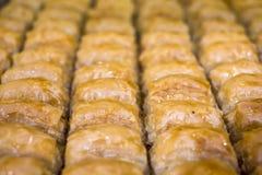 Baklava turco del postre Imagen de archivo libre de regalías