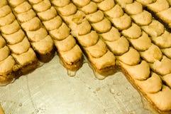 Baklava turco dulce Foto de archivo