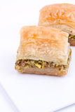 Baklava and turkish coffee Royalty Free Stock Image