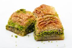 Baklava. Turkish dessert baklava with pistachio Stock Photos