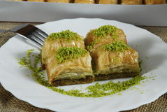 Baklava - turkish dessert -baklawa Stock Photos