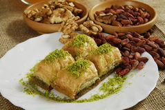 Baklava - turkish dessert -baklawa Royalty Free Stock Image