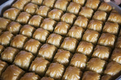 Baklava, Turkish dessert made of thin pastry, nuts and honey Stock Images