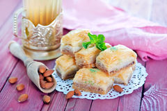 Baklava, Turkish dessert Stock Images