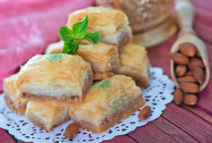 Baklava, Turkish dessert Stock Photos
