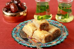 Baklava- turkish dessert Royalty Free Stock Photos