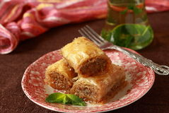 Baklava- turkish dessert Royalty Free Stock Photography