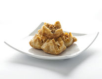 Baklava - turkish dessert  on white plate Stock Photos