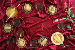 Baklava and Turkish tea Royalty Free Stock Photography