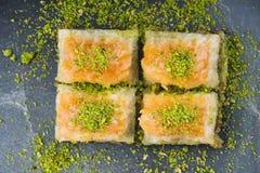 Baklava turque de sobiyet de dessert images stock