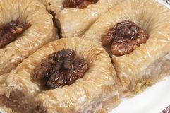 Baklava with walnut 'Sultan' Royalty Free Stock Image