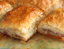 Baklava with walnuts Stock Photography