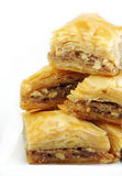 Baklava on White Royalty Free Stock Photo