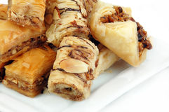 Baklava on White Royalty Free Stock Images