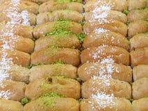 Baklavakakor i skärm för återförsäljnings- marknad Royaltyfria Bilder