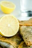 Baklavas and fresh lemon Stock Photo