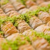 Baklavas with pistacio nuts Royalty Free Stock Photos