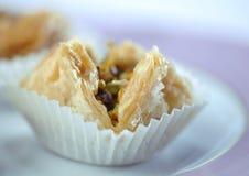 Baklawa dulce árabe Fotos de archivo libres de regalías