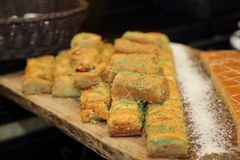 Baklawa. Fresh Baklawa, traditional Turkish dessert Stock Photography