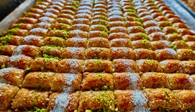 Baklawa. Sweet baklawa in the market, Israel Royalty Free Stock Photo