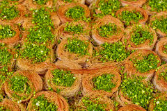 Baklawa. Sweet baklawa in the market, Israel Royalty Free Stock Image