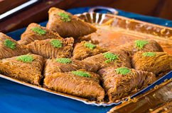 Baklawas on the plate Stock Image