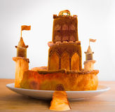 Bakley baked castle food fantasy stock photo