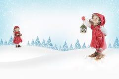 baknground Χριστούγεννα κάλαντων Στοκ Φωτογραφίες