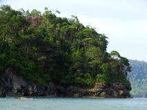 Bako国家公园岩石  沙捞越 自治市镇 马来西亚 库存图片