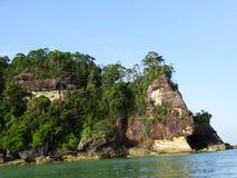 Bako国家公园岩石  沙捞越 自治市镇 马来西亚 免版税库存图片