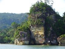 Bako国家公园岩石  沙捞越 自治市镇 马来西亚 库存照片