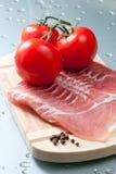 Bakon i pomidory obrazy royalty free