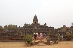 Bakong寺庙废墟 图库摄影